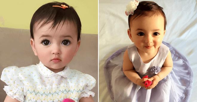 Её родители просто публиковали фото дочери в интернете. С такими глазками она не могла не стать популярной в сети…