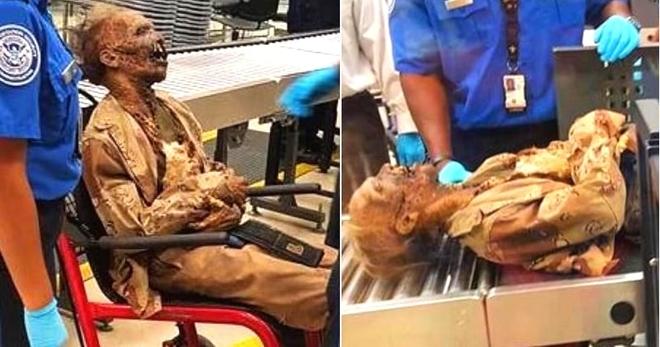 В аэропорте Атланты работникам пришлось досматривать весьма интересного пассажира…