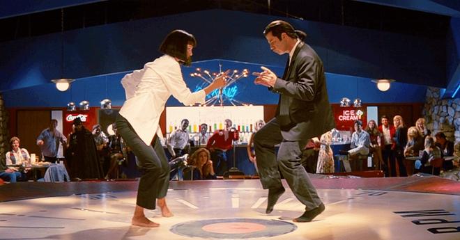Действительно легендарный танец Умы Турман и Джона Траволты из «Криминального чтива». Классно получилось…